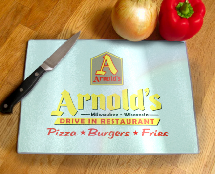 Arnold's Drive In Restaurant From Happy Days Tempered Glass Chopping Board